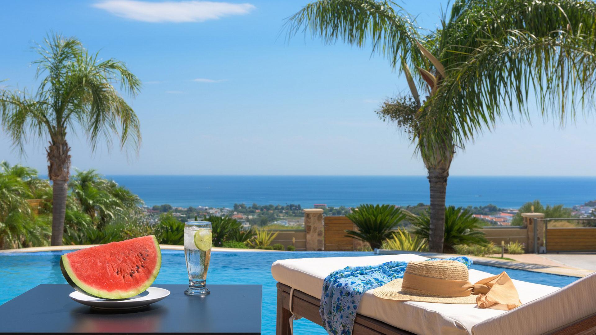 Quinn Hill Villa Faliraki Sea Views
